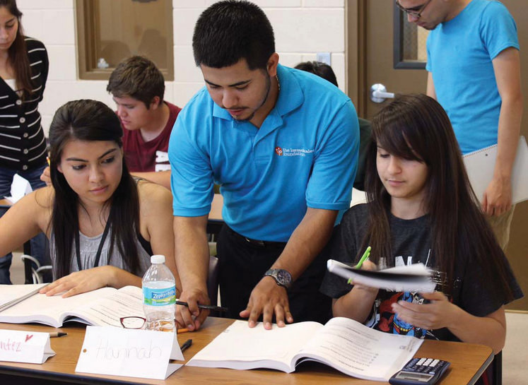 College Success students tutor high-schoolers